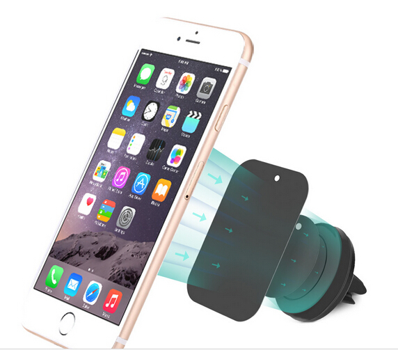 Magnetic car cell phone gps holder with 360 rotating 15