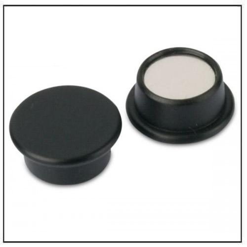 Round Shuttering Plates : Black round office neodymium magnet in plastic housing