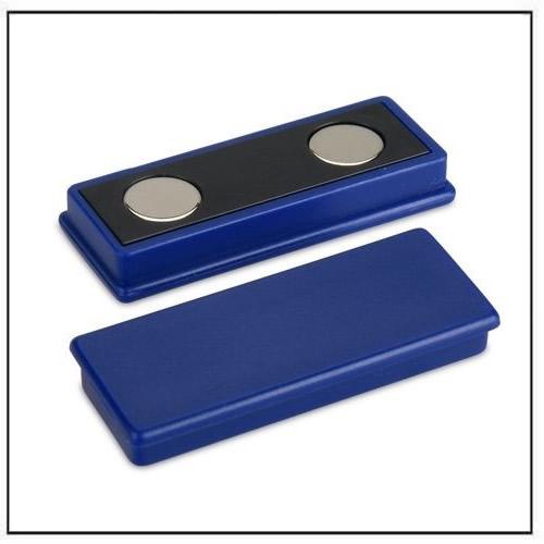 Blue Plastic Coated Rectangle Neodymium Magnet