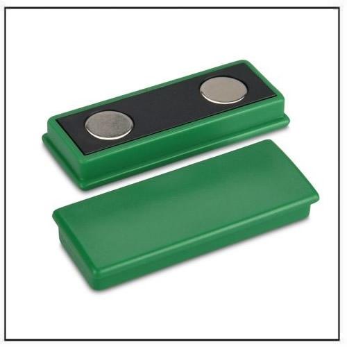 Green Plastic Coated Rectangle Neodymium Magnet