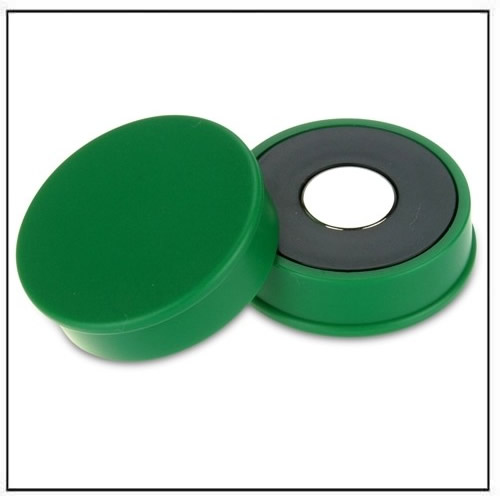 Green Strong Neodymium Round Magnet in Plastic Housing