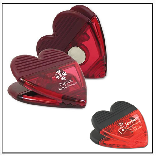 Heart-shaped Promotional Power Clip