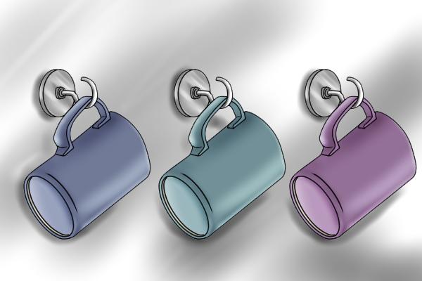Internal threaded pot magnets or hook magnet for hanging mug