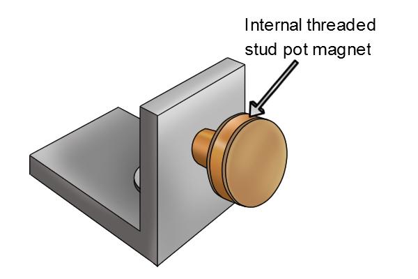 Internal threaded stud pot magnet used for magnetic door stop