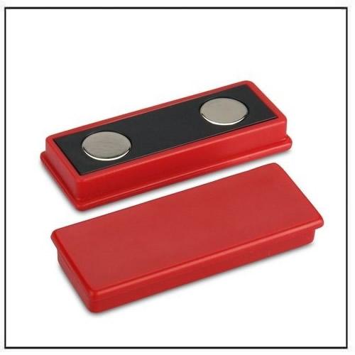 Red Plastic Coated Rectangle Neodymium Magnet