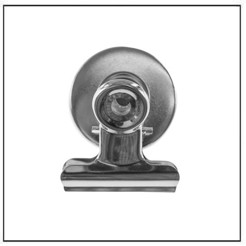 Smart Round Nickel Plated Steel Magnetic Bulldog Clip