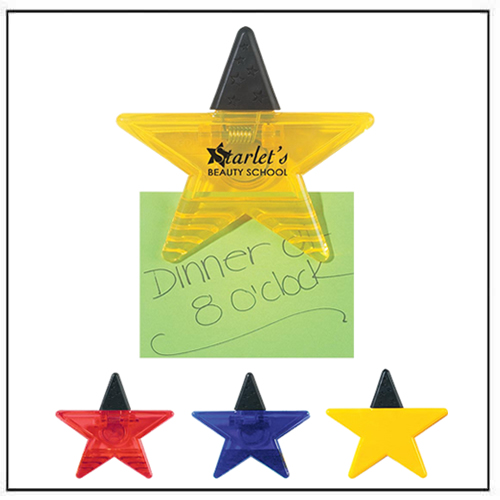 Star-Shaped Promotional Power Clip Magnet