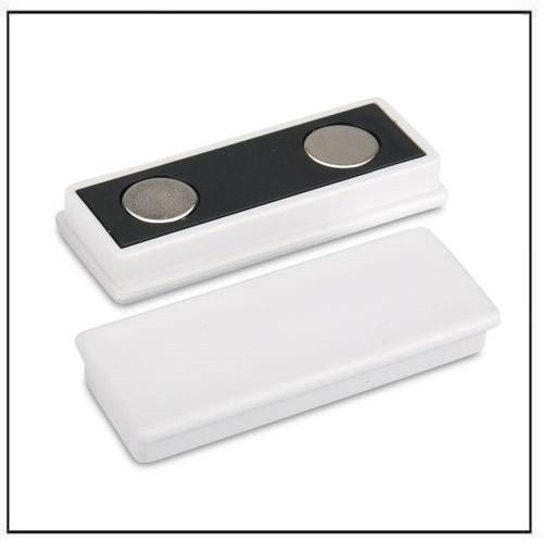 White Plastic Coated Rectangle Neodymium Magnet
