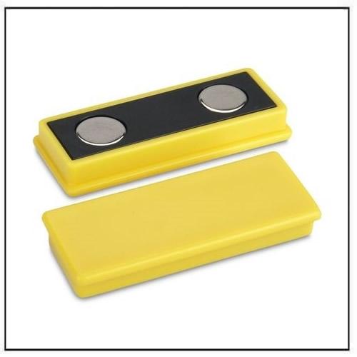 Yellow Plastic Coated Rectangle Neodymium Magnet
