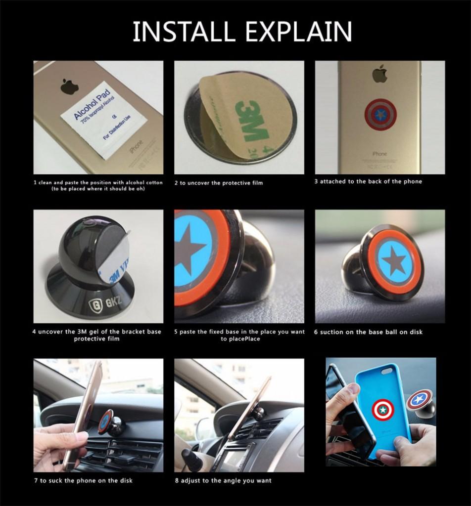 magnetic phone car holder
