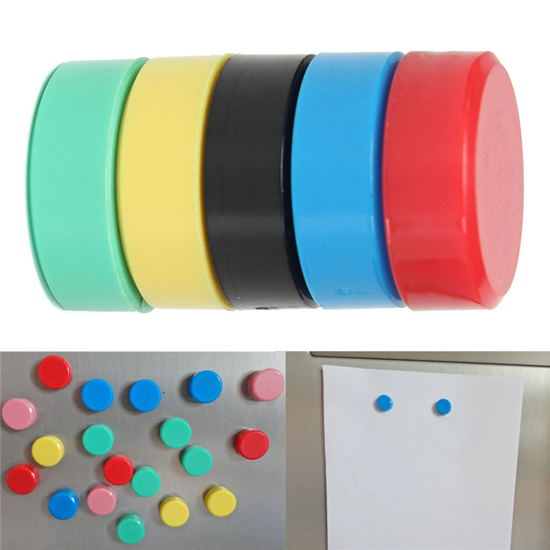 small and asorted plastic coated magnet is perfect for office organization, magnetic whiteboards and crafts