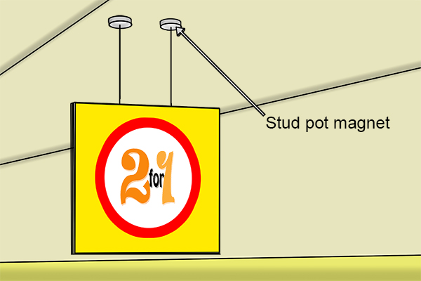 stud pot magnet for Magnetic light fittings