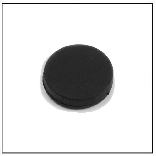 Ø 16.8 x 4.4 mm Black Rubber Coated Neodymium Disc Magnet