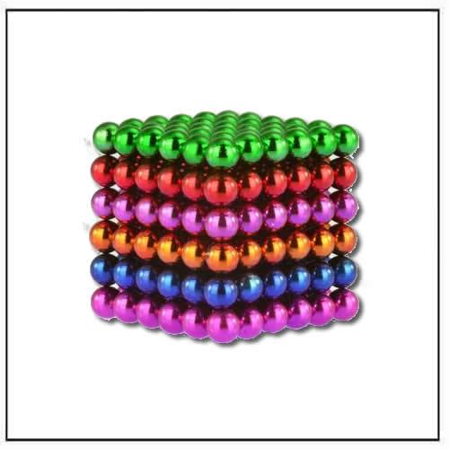 5mm Metallic Rainbow Glazed Spheres NeoMagnetic Cube