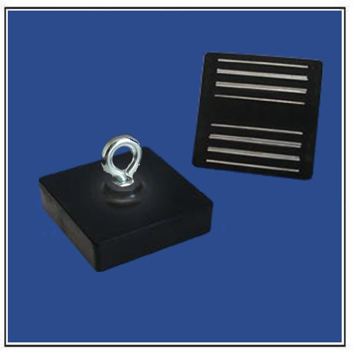 Black Laminated Sandwich Magnet