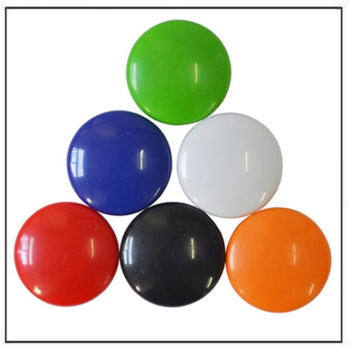 Colorful Cute Round Plastic Coated Magnetic Button