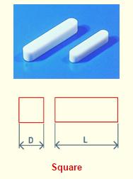 Economy Magnetic Square Stirbar Teflon Coated drawing