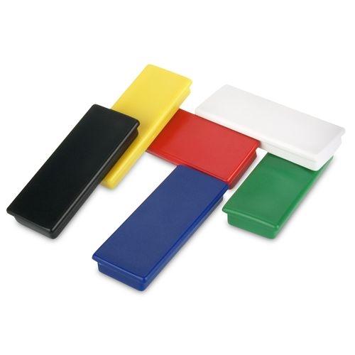 Black Rectangular Plastic Cap Magnets In Ferrite Magnets By Hsmag