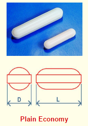 PTFE Stirrer Bar Plain Economy drawing