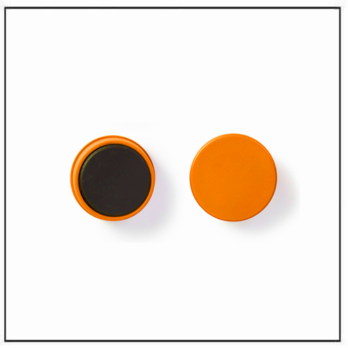 Round Ferrite Plastic Magnets for Planning and Organizing Orange