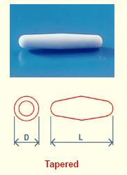 Spinbar Teflon Round Tapered Magnetic Stir Bar DRAWING