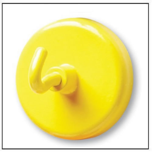 Yellow Painted Super Strong NdFeB Hook Magnets