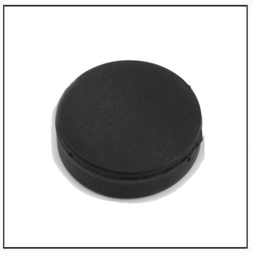 Ø 22 diameter x 6.4 thickness mm Black Rubber Coating Neodymium Disc Magnet