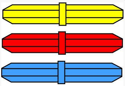 Color-Coded Stirring Bar Octagon with integral pivot ringColor-Coded Stirring Bar Octagon with integral pivot ring