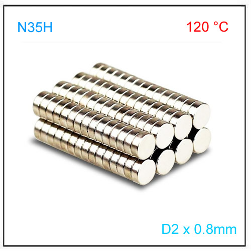 D2x0.8mm N35H Axial Disc Magnet for Position Sensor