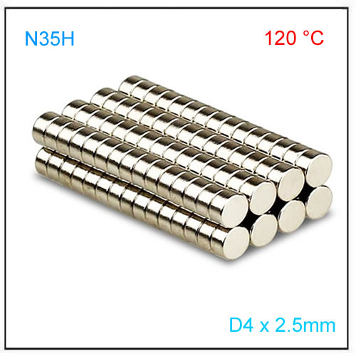 D4x2.5mm Axial N35H Disc Magnet for Linear Position Sensor