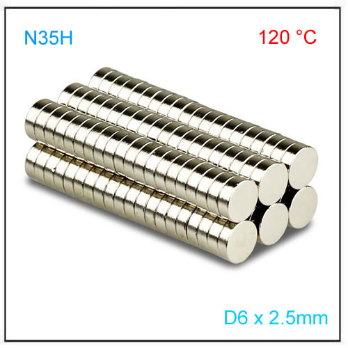 D6x2.5mm N35H Axial Disc Magnets for Linear Position Sensor