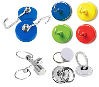 Magnetic Hooks and Rings