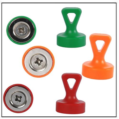 Neodymium Grip Magnets with Loop N35 Ø17 x 22mm
