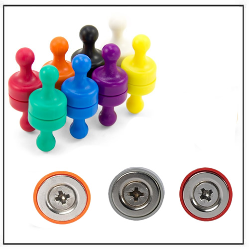 Plastic Magnetic Pushpin N35 Ø17 x 22mm