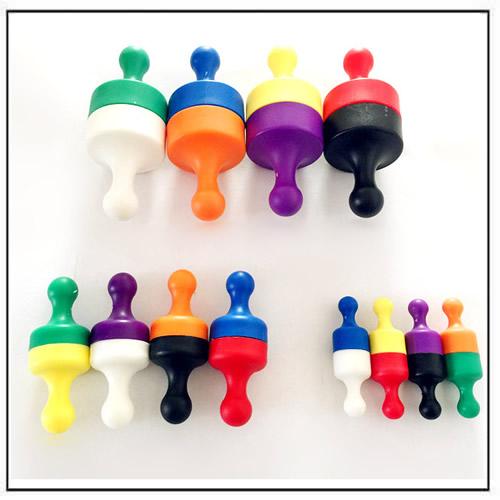 Powerful Plastic Neodymium Jumbo Skittle Magnets