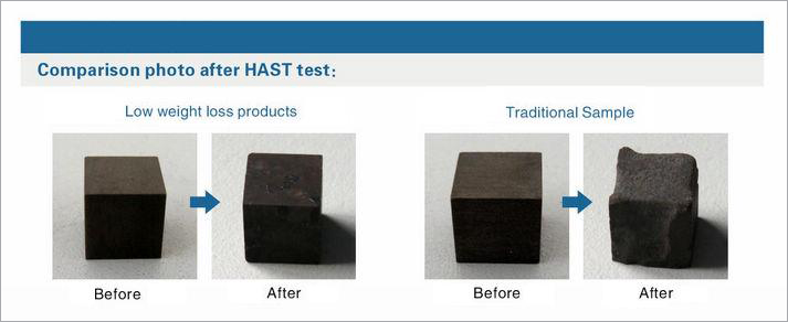 un-plated magnet after HAST test