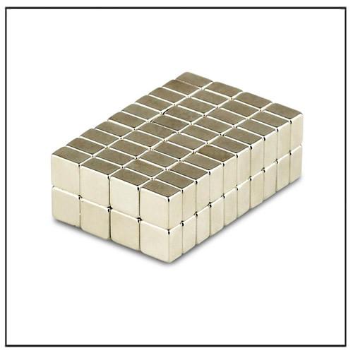 Block Magnet 5 x 5 x 3 mm N38 Nickel Plating