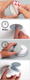 Magnetic Fixture for Smoke Detector