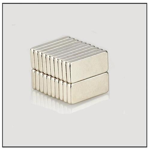 N45 15 x 5 x 2 mm Nickel Coated Rectangular Neo Magnet