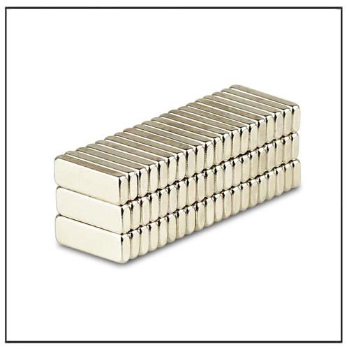 Neo Blocks N48 12 x 4 x 1.5 mm Nickel Coating