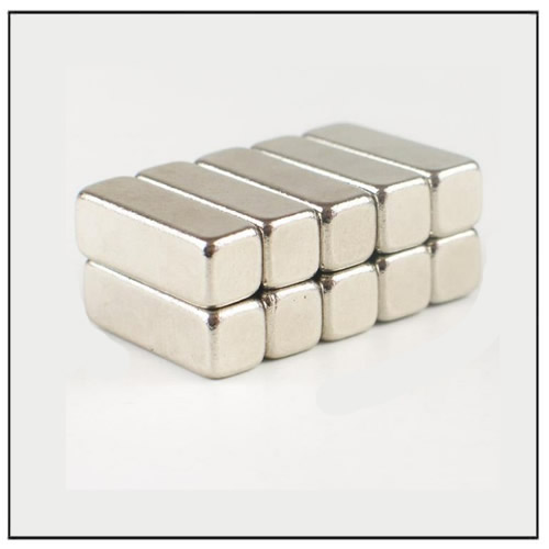 Neodymium Block Magnet N40 15 x 5 x 5 mm Nickel Coating