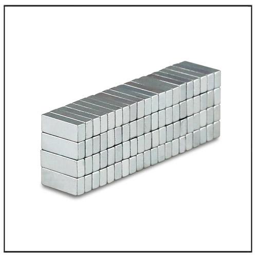 Rectangular Magnet 8 x 3 x 2 mm N40 Zinc Plating