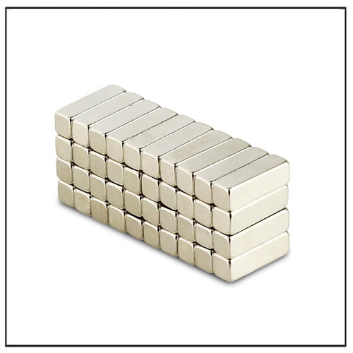 Rectangular Magnets 10 x 4 x 4 mm N42 Nickel Coating