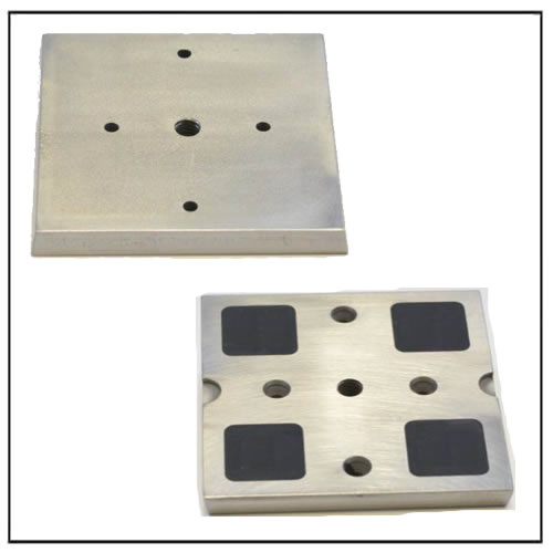 Steel Embedded Wood Plate Magnet