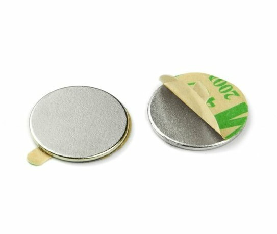 Self-adhesive neodymium disc magnet