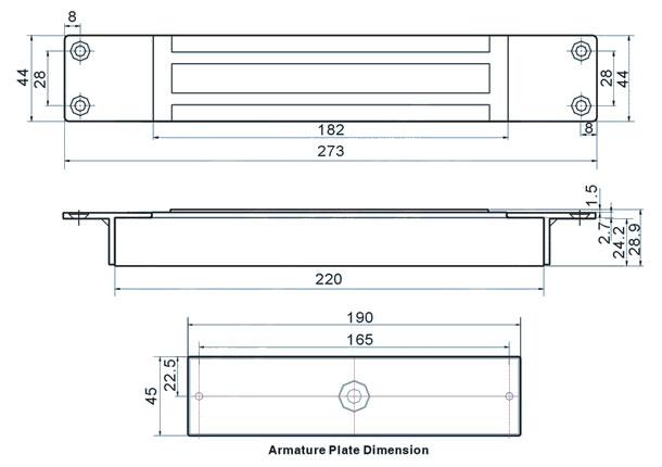 350kg-electromagnetic-lock-technical-parameters