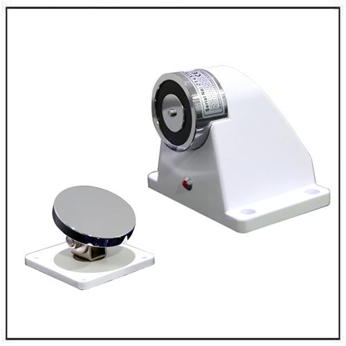 floor mount electromagnetic door holders