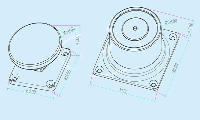 magnetic-wall-mount-door-holder-technical-parameter