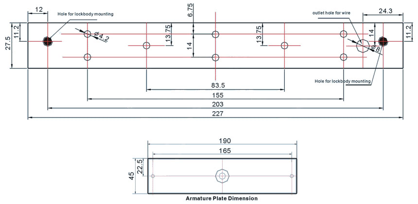 single-door-electromagnetic-lock-technical-parameters