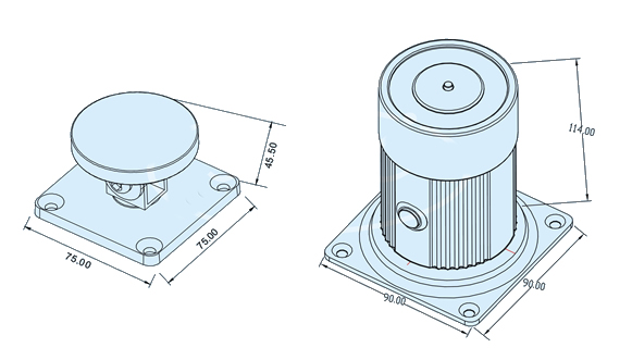 wall-mount-magnetic-door-holder-technical-parameter-drawing